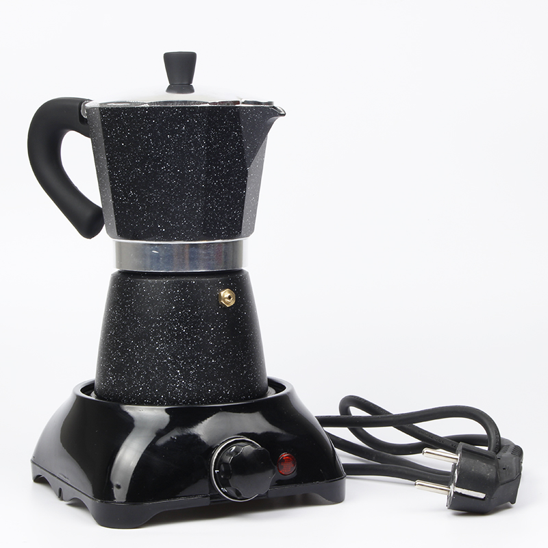 Electric Coffee Maker Filter Coffee Pot Electric Moka Coffee Filter Tools Black Electric Heating ...