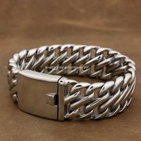 Various Lengths Huge Heavy 316L Stainless Steel Men S Biker Bracelet 5L002 8 7