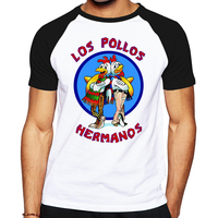 Brand Quality Breaking Bad LOS POLLOS HERMANOS T Shirt Tees Distressed Walter White Heisenberg AMC TV