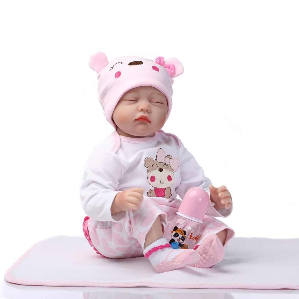 NPK 16 ''40 см Силиконовые Винил reborn baby doll игрушечный олень, детский приятель кукла из мягкой натуральной touch детские игрушки для подарка на день рождения и Рождество