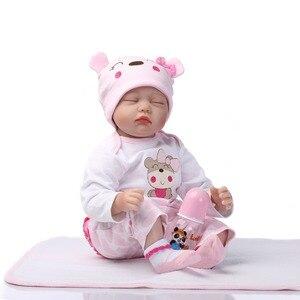 Image 3 - Npk 16 40センチシリコーンビニール生まれ変わった赤ちゃん人形子供遊び人形の家の庭のおもちゃ用ギフト上の誕生日とクリスマス