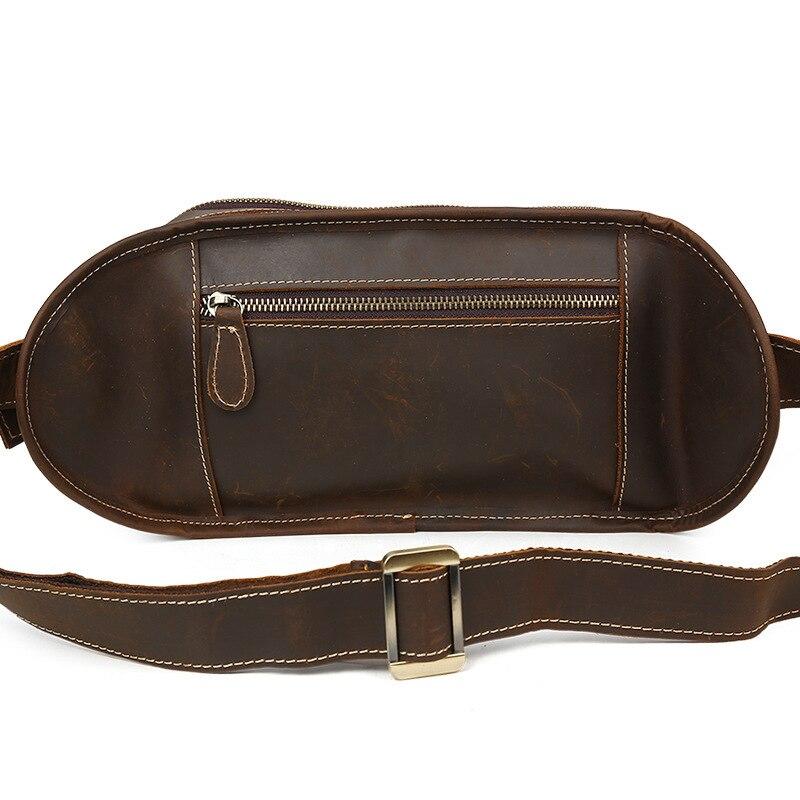 2018 мужские дорожные сумки из натуральной кожи, Мужская поясная сумка, поясная сумка из коровьей кожи - 4