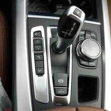 Car Interior Accessory Gear Shift Knob Cover Sticker Trim For BMW X5 F15 X6 f16 2014 2015 2016,Car Styling