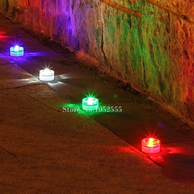 10pcs Solar led underground light Emergency Driveway/Garden/Pathway 1led Bright Buried Ground Floor Lamp Road Deck Lights HM212