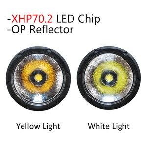 Image 4 - Đèn Lặn Đèn Pin XHP70.2 LED Bổ Nhào Đèn Pin Đèn Dưới Nước 100M NEW32650Diving Flashlgiht Đèn Pin Sử Dụng 2*32650/26650