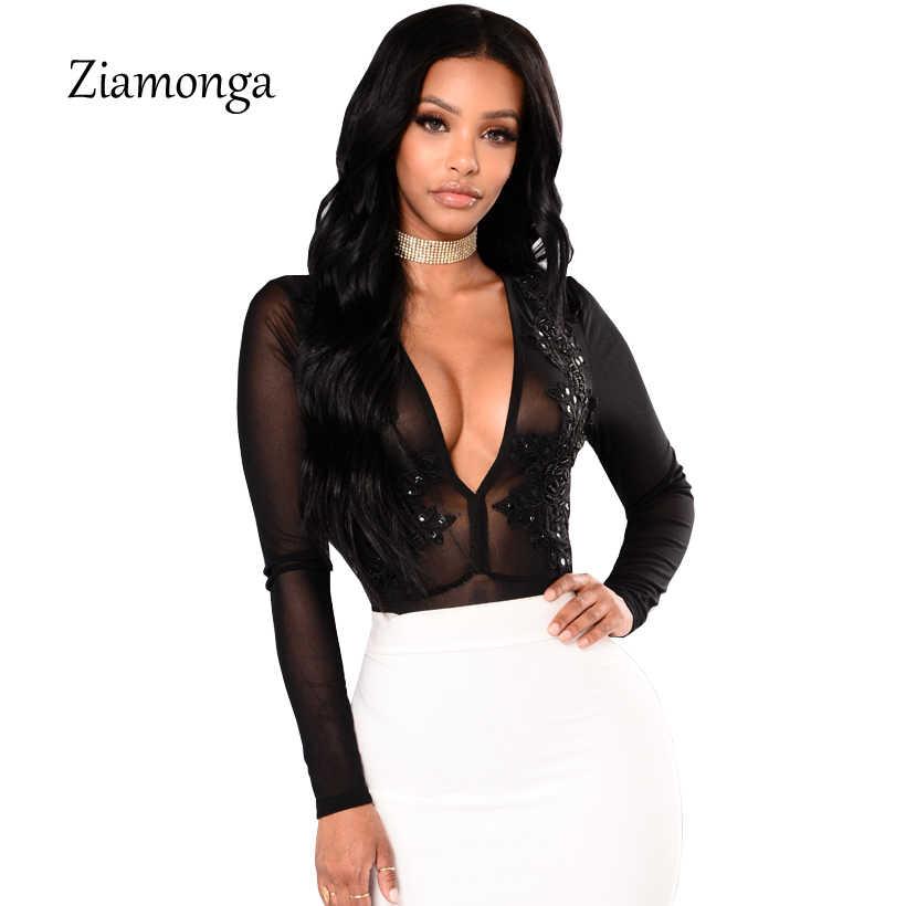 a11b844f79a Ziamonga Для женщин пикантные Средства ухода за кожей костюм Блесток  Корректирующие боди для женщин с длинным