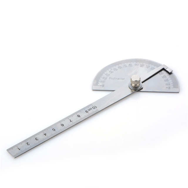 100mm Stainless Steel 180 Degree Protractor Angle Finder Rotary Measuring Ruler For Woodworking Tools