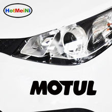 HotMeiNi 20*4.2cm Hot Sale Cool Motul Oil Body Stickers Car Sticker JDM vinyl Decal drop Car Styling Accessories Black/Sliver(China)