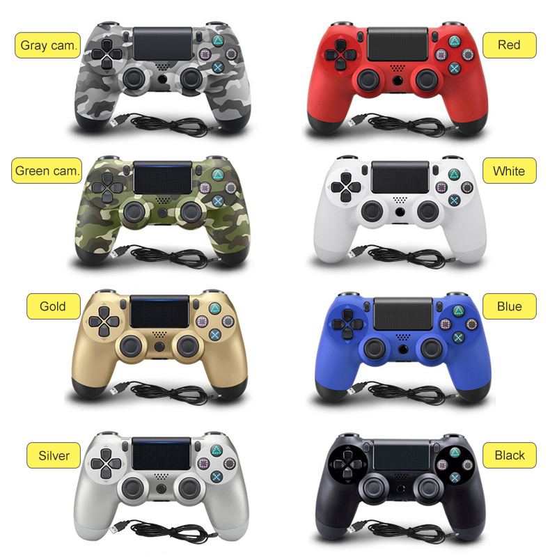 New USB Wired Gamepad Controller For PS4 Controller For Sony Playstation 4 DualShock Vibration Joystick Gamepads For PC game voground new for sony ps4 bluetooth wireless controller for playstation 4 wireless dual shock vibration joystick gamepads