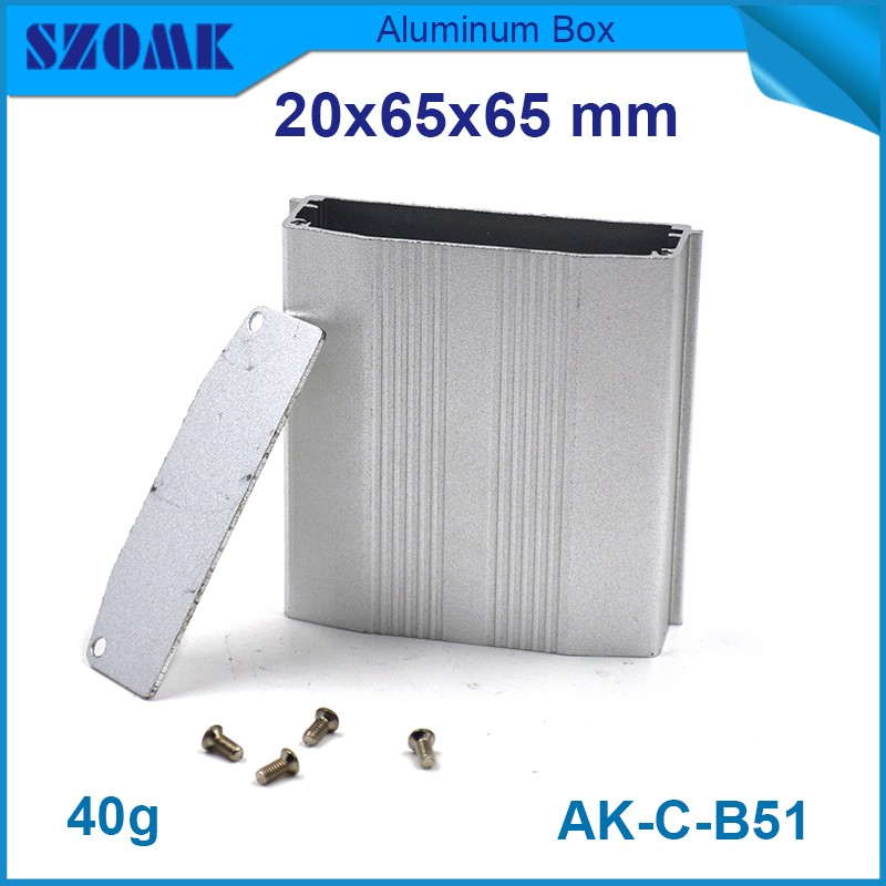 al 20h mounting tape aluminum - 4 pieces metal box enclosure szomk aluminum housing case for electronics 20(H)x65(W)x65(L) mm