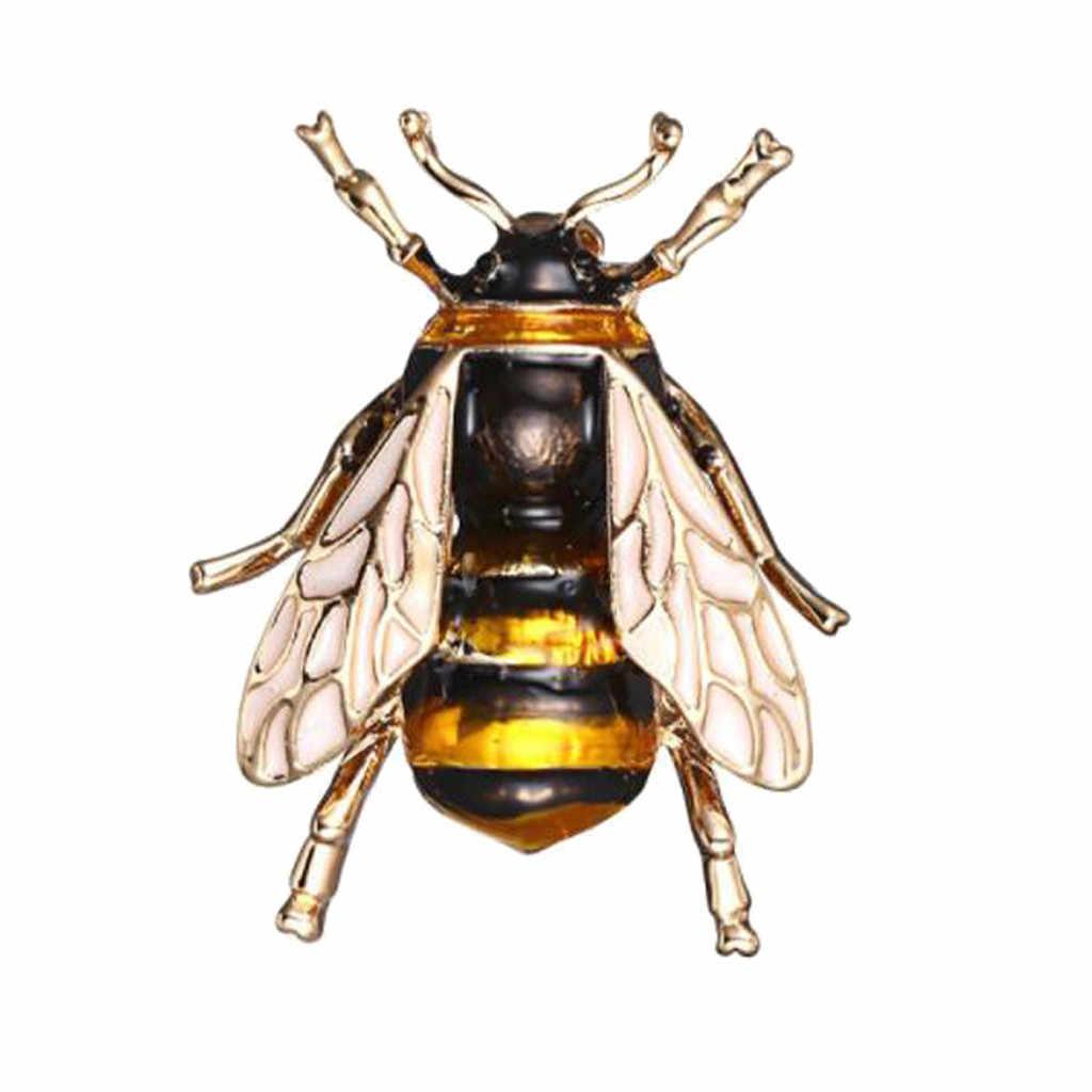1PC VINTAGE Bee เข็มกลัดโลหะแมลงเข็มกลัด Pin ผู้หญิง & ผู้ชายเครื่องประดับน่ารัก Bumblebee ป้ายแฟชั่นผ้า Decors อุปกรณ์เสริม