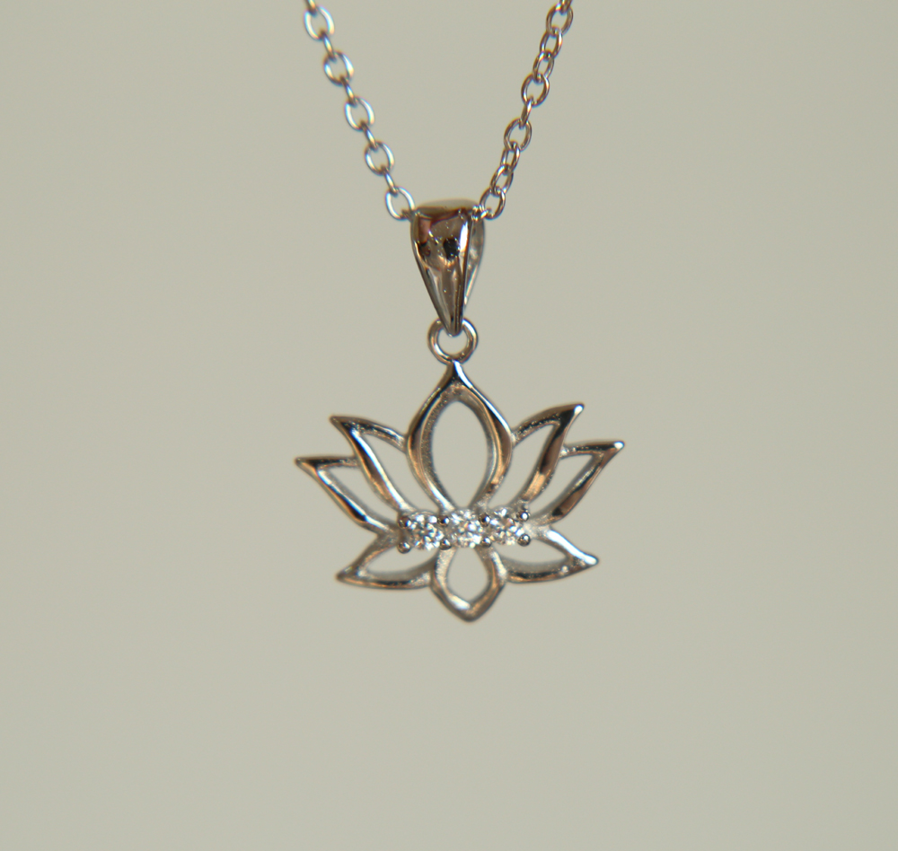 Lotus flower flower promotion shop for promotional lotus flower new 925 sterling silver high polished yoga jewelry pure silver women pendant lotus flower necklace dhlflorist Gallery