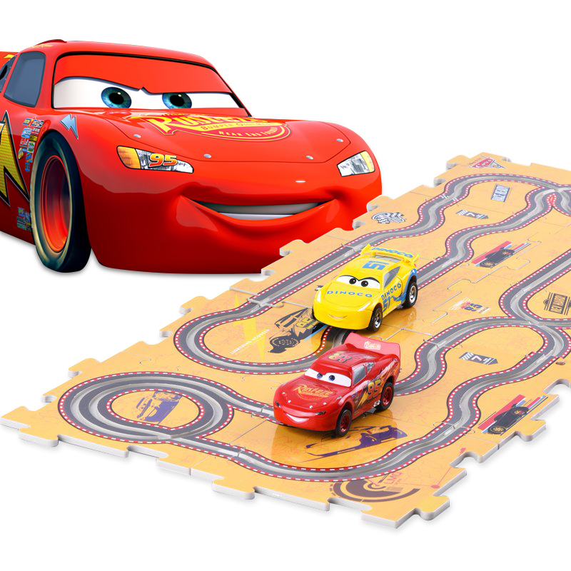 Car Mobisuper Large DIY Puzzle Jigsaw Pattern Forest Wind Up Railcar Learning Education Toys For Children Kids Educational Game