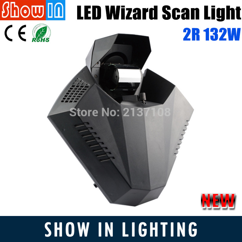 Cheap 2R 132W LED Wizard Scan Light DMX DJ Disco Party Wedding Stage Lighting Scanning Projector Free Shipping 6pcs lot white color 132w sharpy osram 2r beam moving head dj lighting dmx 512 stage light for party