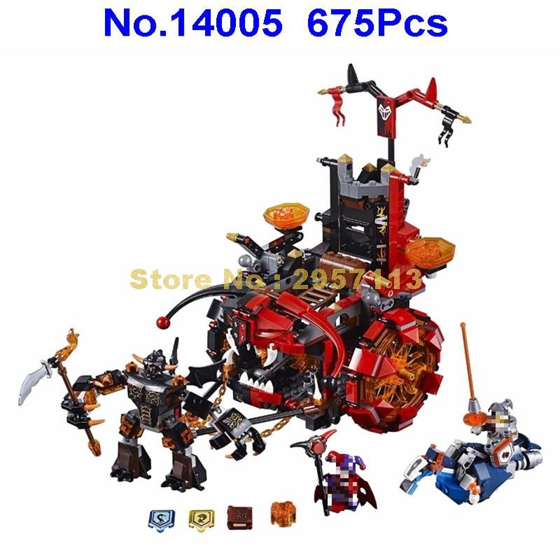 Lepin 14005 675pcs Nexus Knights Jestro\'s Evil Mobile Clown Mixed Building Block Compatible 70316 Brick Toy 2016 front wheel bearings hub bearing kits fit for chevrolet epica vkba6990 oe12541129