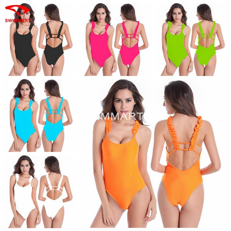 Brand New Popular one piece swimsuits backless font b Swimming b font Suits Sexy Colorful women