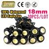 Free shipping Super Bright 10pcs/lot 18mm Eagle Eye LED Daytime Running Lights Parking Lamp led DRL Waterproof fog Light