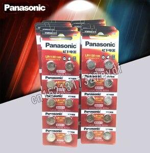 100 шт. батарея Panasonic 1,5 V AG10 LR1130 Щелочная батарейка-кнопка AG10 389 LR54 SR54 SR1130W 189 LR1130 кнопочные батареи