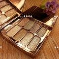 Hot venta 8 colores diamond sombra de ojos cosméticos de maquillaje paleta de sombra de ojos brillo mate de alta calidad con pincel y mirror