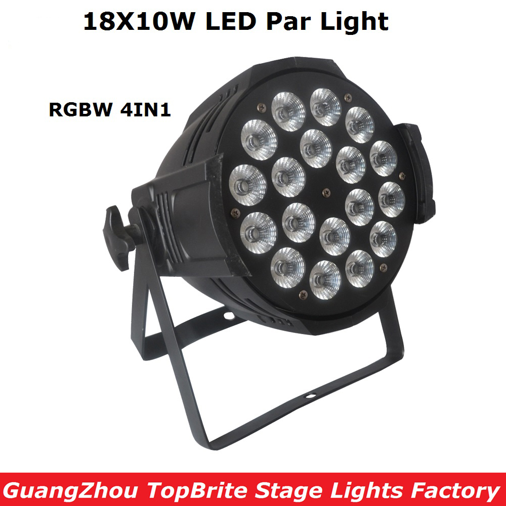 New Arrival 18X10W RGBW 4IN1 Led Stage Lights High Quality LED Par Can With DMX512 8 Channels For Stage Dj Disco Laser Lights