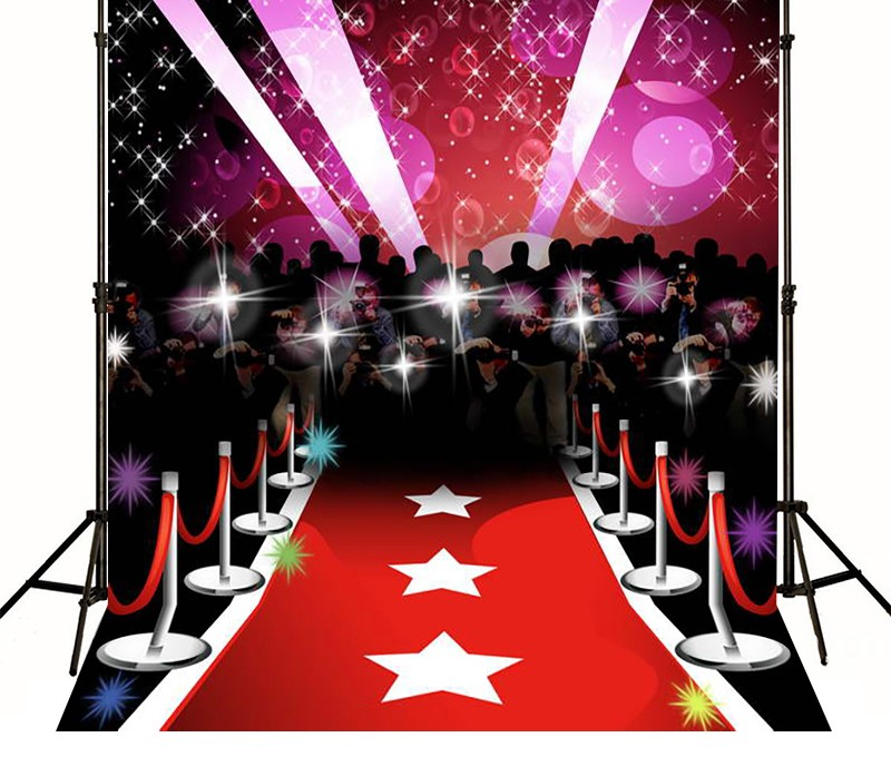 Star Red Carpet Paparazzi Hollywood Celebrity background polyester or Vinyl cloth High q ...