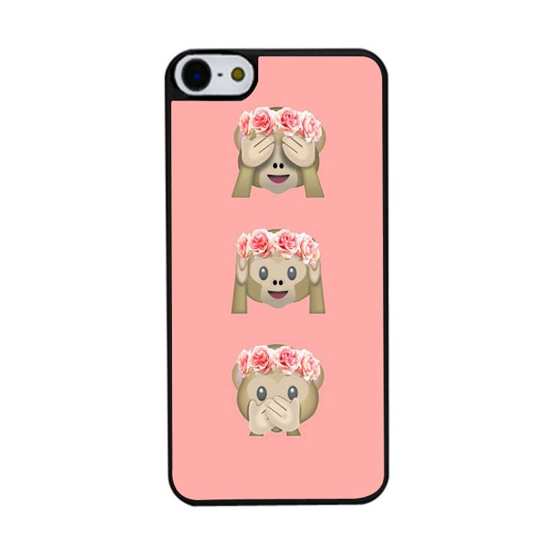 Floral Monkey Emoji Ultra Case Slim Shell Cover Case for iphone 5C