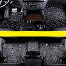 lsrtw2017  leather car floor mat for mercedes benz M-class 2012 2013 2014 2015 2016 2017 2018 2019 w166 gle accessories carpet цены онлайн