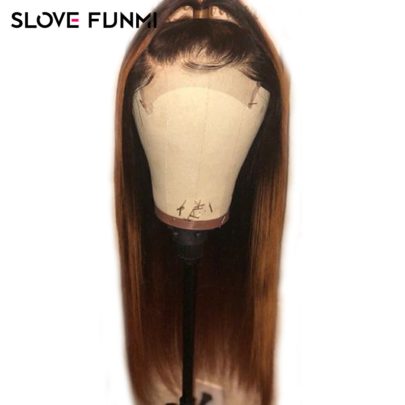 150 Ombre Human Hair Wigs 1b 27 Lace Front Human Hair Wigs for Women Brazilian Remy