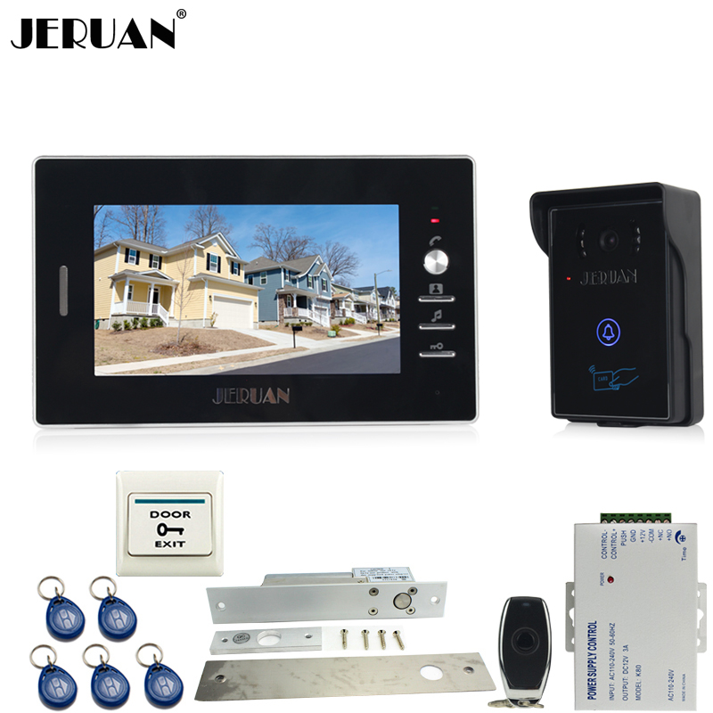 JERUAN luxury 7`` Video Intercom Entry Door Phone System+700TVL Touch Key Waterproof RFID Access Camera+Electric Drop Bolt lock free customs taxes ebike battery 48v 40ah 2000w electric bicycle lithium battery pack with charger and 50a bms