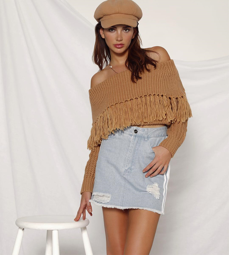 Off The Shoulder Sweater Women (2)