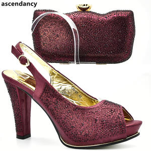 1e578d321b2 ascendancy Shoes and Bag Set African 2018 Ladies Bags Set