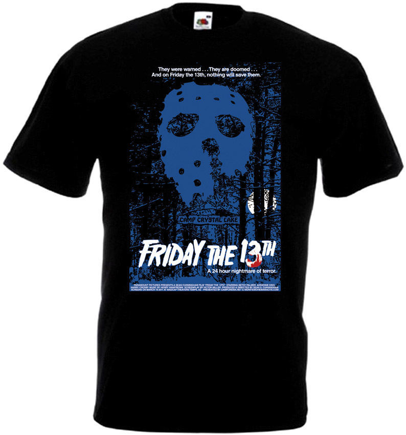 Friday The 13 v22 T-Shirt all sizes S-5XL BLACK
