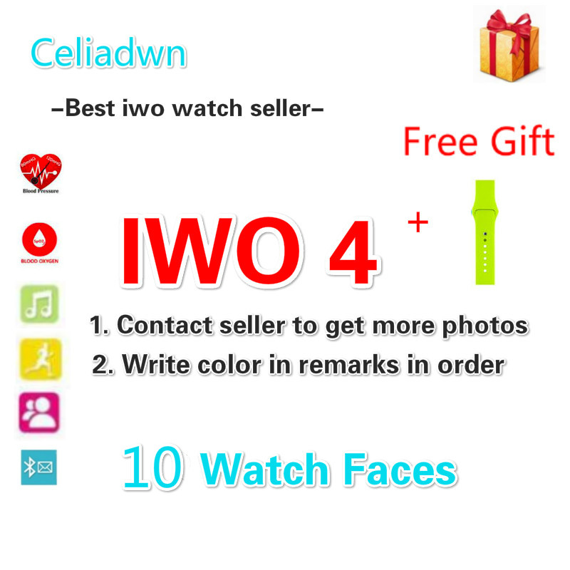 Celiadwn IWO 4 Bluetooth Smart Watch 10 Clock Faces 1:1 42mm Aluminum Case Heart Rate Monitor Blood Pressure for iOS Android iwo 5 wireless charger bluetooth smart watch with heart rate ecg 9 clock faces watch pedometer for android ios phone pk iwo 3 2