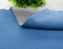 Fashion Thick blue gray double-sided cashmere wool fabric / woolen tweed tecido telas christmas tulle coat african A113