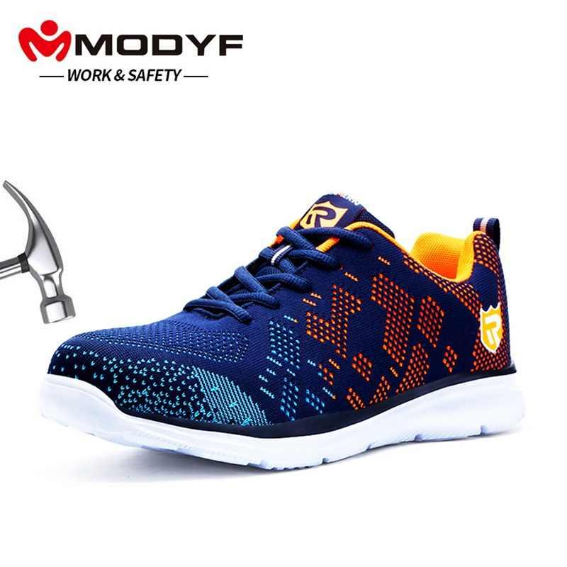b9d2898baa9 MODYF ligero transpirable hombres zapatos de seguridad zapatos de trabajo  de punta de acero para hombres
