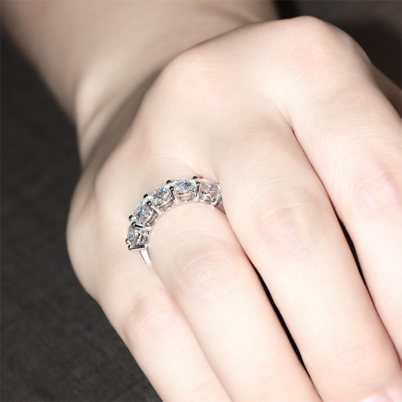 band bands gold princess eternity pid s rings semi cut diamond white wedding women