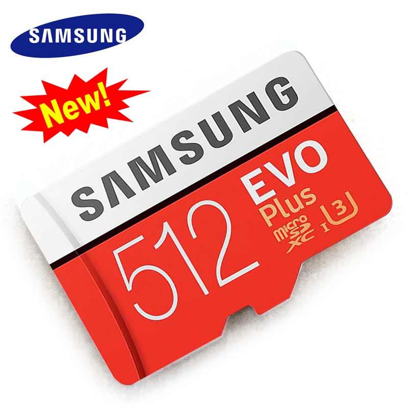 SAMSUNG Micro SD 512 GB Cartão De Memória de 2018 Novo cartao de memoria Microsd Cartões De 512 gb TF cartão sd para câmera DLSR e Smartphones