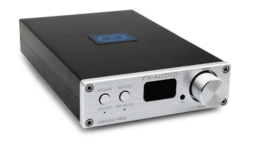 Купить с кэшбэком 2019 FX-Audio New D802C PRO Bluetooth@4.2 APTX Full Digital Amplifier Input USB/AUX/Optical/Coaxial 24Bit/192KHz 80W*2 DC32V/5A