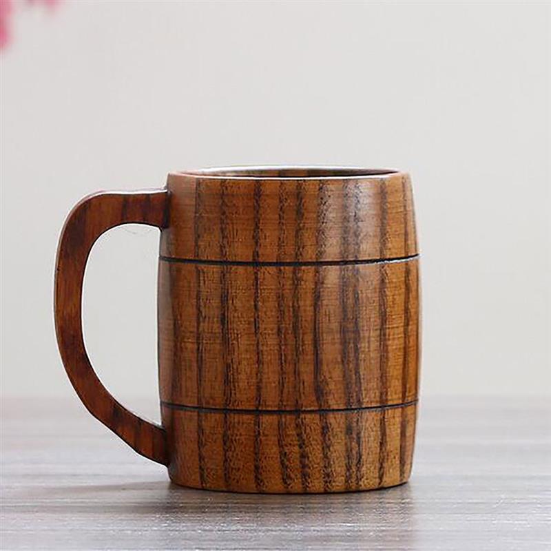 5 шт. Классическая Ручная работа деревянная кофейная Пивная Кружка высокого качества из натурального дерева кофейная кружка вина чай молок