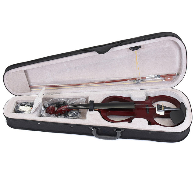 Basswood Electric Violin with Case