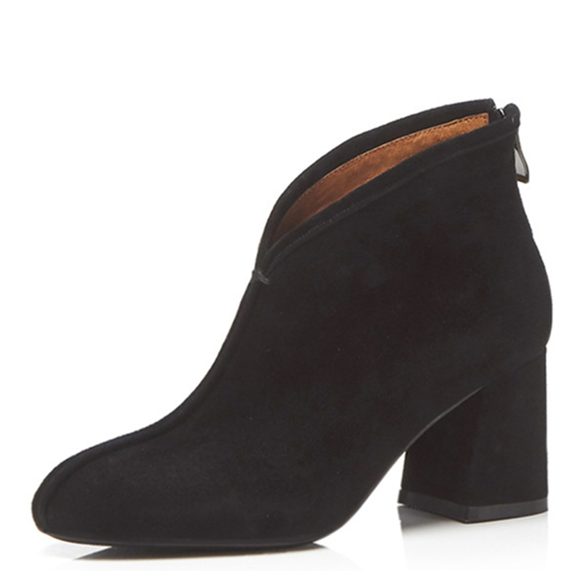 Ayakk.'ten Ayak Bileği Çizmeler'de FEDONAS Marka Womens Boots Yeni Sonbahar Kış moda ayakkabılar Kadın Yuvarlak Ayak Retro Yüksek Kaliteli Bayan Ayakkabı Kadın yarım çizmeler'da  Grup 2