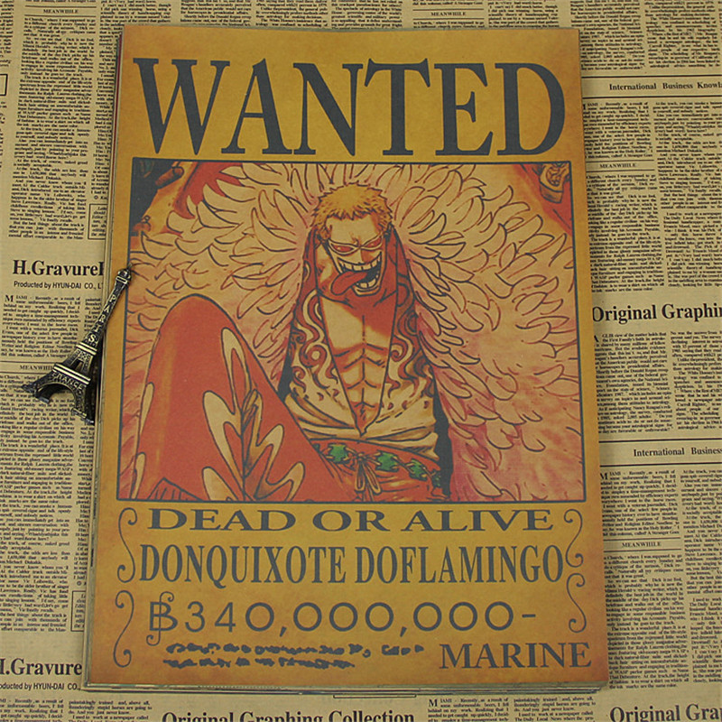 One Piece Wanted Poster | Free Worldwide Shipping | No 1 ...