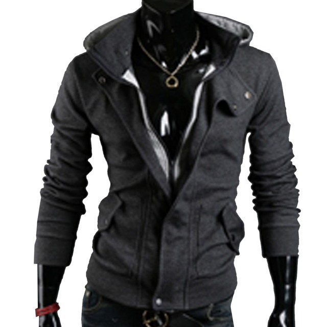 Shelikeit HOT SALE Mens Hoodies Casual Mens Assassins Creed Jacket Special Zipper Sweatshirt Thicken Men Tracksuits M-XXL 38EW