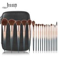 2018 Jessup New 18pcs Makeup Brushes T264 Cosmetic bag CB006 pincel maquiagem profissional completa Eyeshadow Blending Brush
