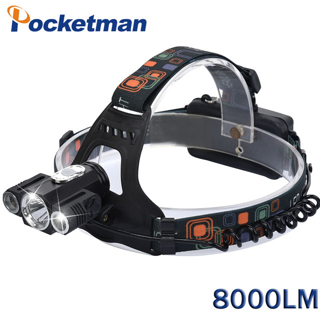 Headlamps Magnet Led 8000 Headlamp Rotating 2XPE in Headlamps Lumenes 3 Frontale LED T6 US24 Hunting 76Linternas Lampe Camping Recargable LEDs D9YWEH2I