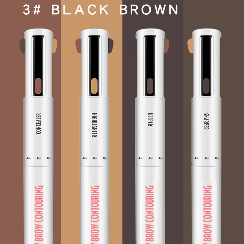Dropshipping 4-in-1 Easy To Wear Eyebrow Contour Pen Waterproof Defining Highlighting Brow SMJ
