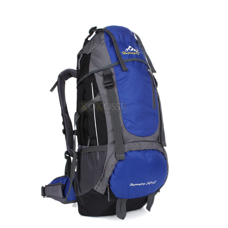 ФОТО High Quality 55L Extral Load Professional Outdoor Backpack Hiking Camping Rucksack Daypack Travel Bag Back Pack