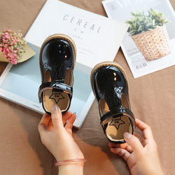 [Bosudhsou] MG-8 Girl Shoes Leather Children Shoe Leather Kids Casual Flats Sneakers Toddler Children Boys Shoes