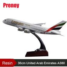 цена на 36cm A380 Resin Airplane Model United Arab Emirates Airlines Airbus Model Emirates Airways Plane Model UAE A380 Aviation Model