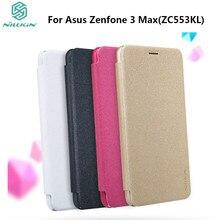 Чехол для Asus Zenfone 3 Max ZC553KL чехол 5.5 дюймов Nillkin Sparkle кожаный чехол флип чехол для ASUS Zenfone 3 Max